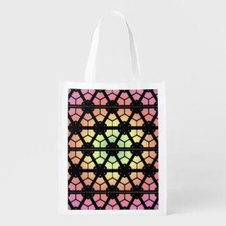 Polyester Bag - Leaded Glass Design Reusable Grocery Bag