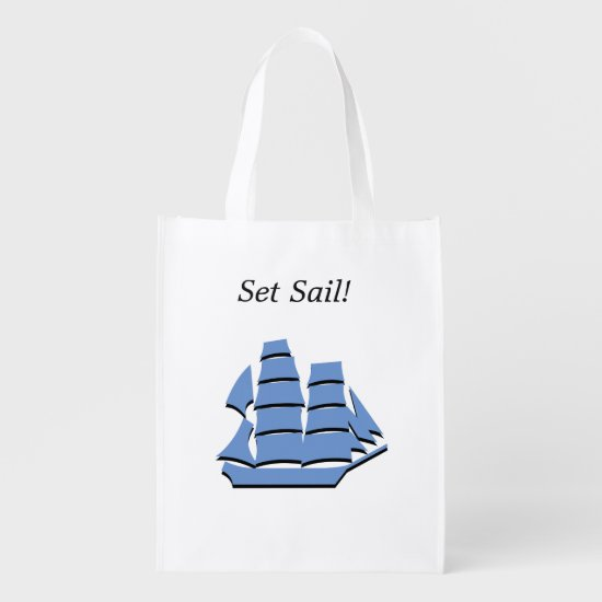 Polyester Bag - Schooner Graphic