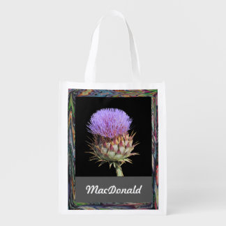Polyester Bag - Thistle and Name Market Tote