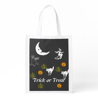 Polyester Bag - Trick or Treat Reusable Grocery Bag