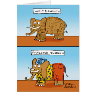 Polyester Mammoth Card