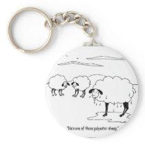 polyester sheep keychain