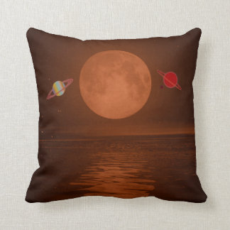 "Polyester Throw Cushion 16"" x 16"" planets"