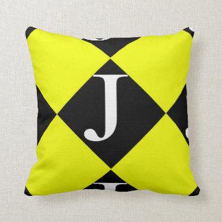 "Polyester Throw Pillow 16"" x 16"" J Image"