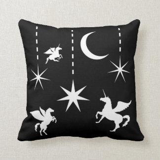"Polyester Throw Pillow 16"" x 16"" Pegasus and stars"