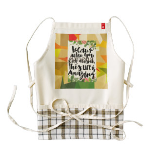 polygamel,typography,fall colors,trendy pattern,gr zazzle HEART apron