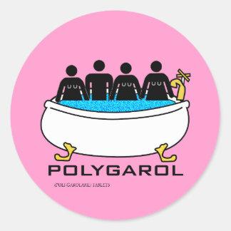 Polygarol Classic Round Sticker