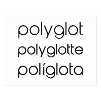 Polyglot Polyglotte Polyglota Multiple Languages Postcard