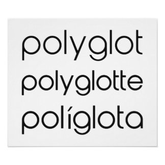Polyglot Polyglotte Polyglota Multiple Languages Posters