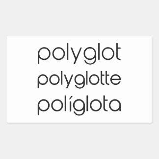 Polyglot Polyglotte Polyglota Multiple Languages Rectangular Sticker