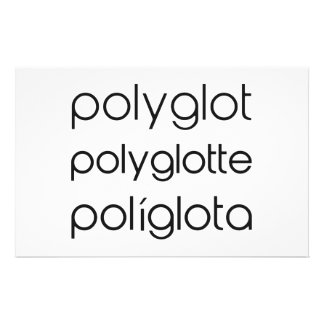 Polyglot Polyglotte Polyglota Multiple Languages Stationery