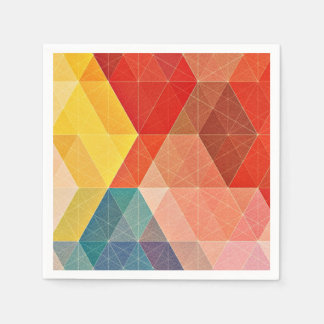 Polygon Abstract Paper Napkin