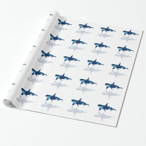 polygon art triangle graphic orca papel de regalo