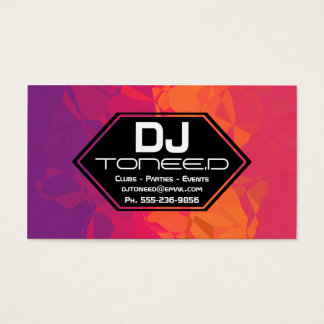 Polygon DJ Disc Jockey Business Cards Colorful