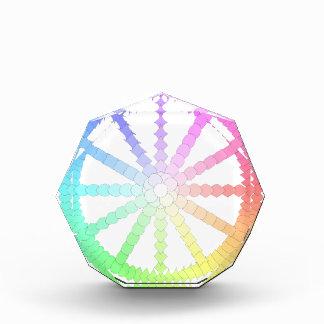polygon evolution wheel geometry acrylic award