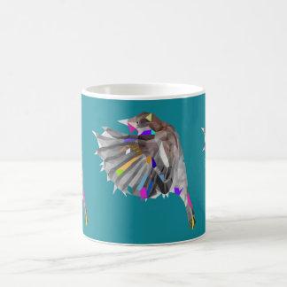 Polygon Finch Pop Art Mug