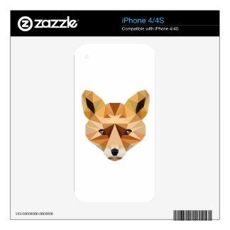 Polygon Fox iPhone 4S Skin