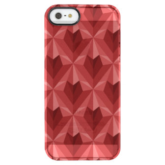 Polygon Heart Clear iPhone SE/5/5s Case