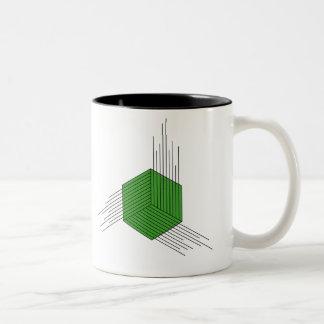 Polygon Hexagon Two-Tone Coffee Mug