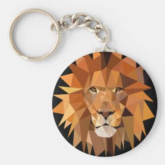 Polygon Lion Custom Keychain