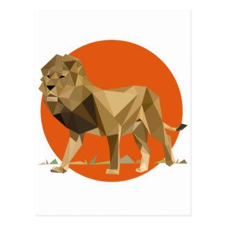 Polygon Lion Postcard