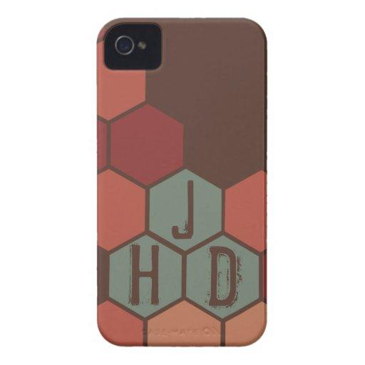 Polygon Monogram iPhone 4 Cover