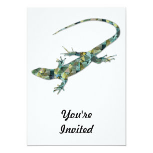 Green Lizard Invitations Zazzle