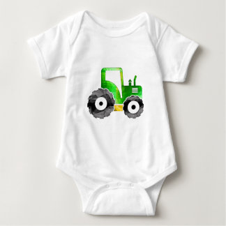 Polygon Mosaic Green & Yellow Tractor Baby Bodysuit