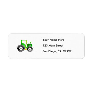 Polygon Mosaic Green & Yellow Tractor Label