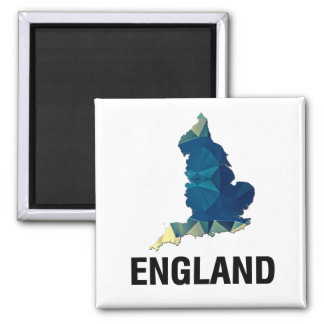 Polygon Mosaic Map of England Fridge Magnets