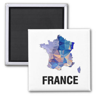 Polygon Mosaic Map of France Refrigerator Magnets