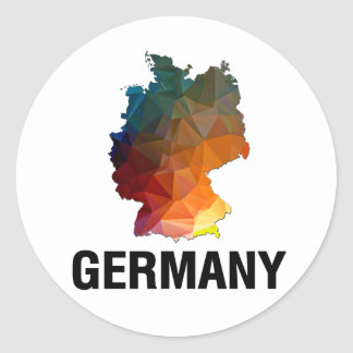 Polygon Mosaic Map of Germany Classic Round Sticker