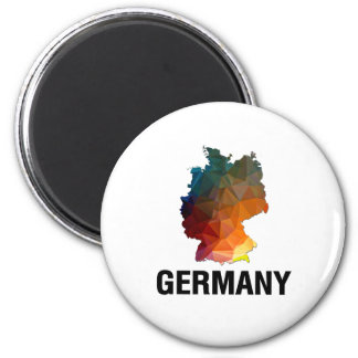 Polygon Mosaic Map of Germany Magnets