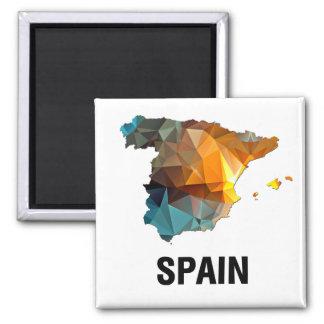 Polygon Mosaic Map of Spain Fridge Magnet