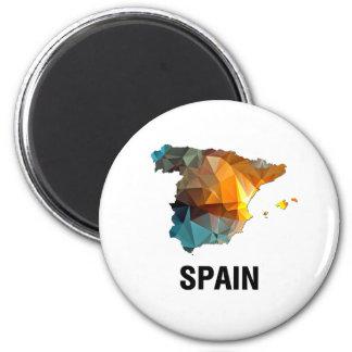 Polygon Mosaic Map of Spain Fridge Magnets