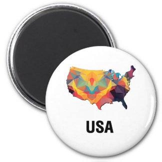 Polygon Mosaic Map of United States USA Fridge Magnet