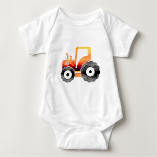 Polygon Mosaic Orange Tractor Baby Bodysuit