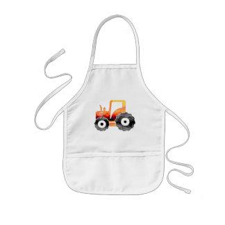 Polygon Mosaic Orange Tractor Kids' Apron
