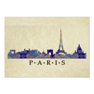 Polygon Mosaic Skyline of Paris Card