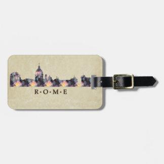 Polygon Mosaic Skyline of Rome Bag Tag