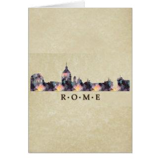 Polygon Mosaic Skyline of Rome Card