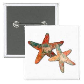 Polygon Mosaic Starfish Twins Button