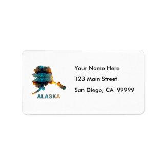 Polygon Mosaic State Map  ALASKA Label