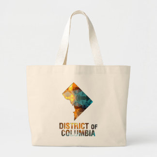 Polygon Mosaic State Map DISTRICT OF COLUMBIA Tote Bag