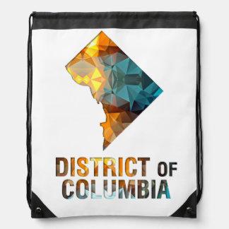 Polygon Mosaic State Map DISTRICT OF COLUMBIA Drawstring Bag