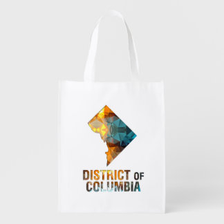 Polygon Mosaic State Map DISTRICT OF COLUMBIA Grocery Bag