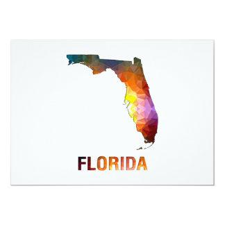 Polygon Mosaic State Map FLORIDA Card