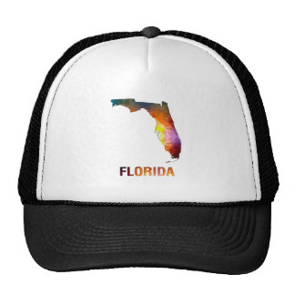 Polygon Mosaic State Map FLORIDA Trucker Hat