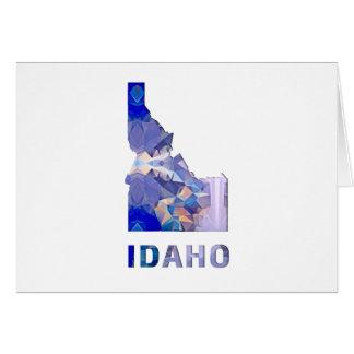 Polygon Mosaic State Map  IDAHO Card