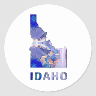 Polygon Mosaic State Map  IDAHO Classic Round Sticker